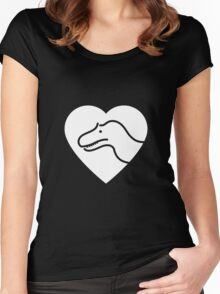 Dinosaur heart: Torvosaurus Women's Fitted Scoop T-Shirt