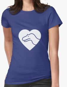 Dinosaur heart: Torvosaurus Womens Fitted T-Shirt