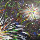 Abstract Fireworks Color Explosion by Kelly Betts