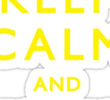 Keep Calm and Kick Ass Sticker