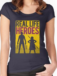 Real Life Heroes (V.2)  Women's Fitted Scoop T-Shirt