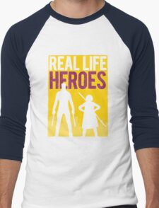 Real Life Heroes (V.2)  Men's Baseball ¾ T-Shirt