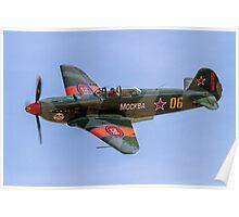 Yakovlev Yak-9UM yellow 06 HB-RYA Poster