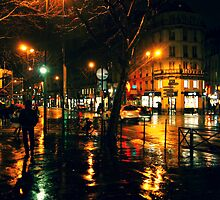 Rainy Night in Paris by Patrick Horgan