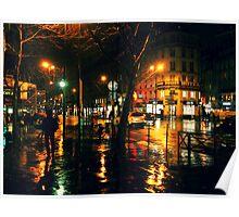 Rainy Night in Paris Poster