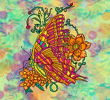 Tie Dyed Butterfly  by JanDeA
