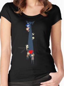 SuperWhoLock Tie Women's Fitted Scoop T-Shirt