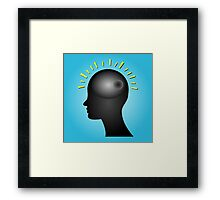 Concept of IDEA with human head Framed Print