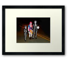 Beetlejuice and Family Framed Print
