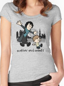Watson and Holmes  Women's Fitted Scoop T-Shirt