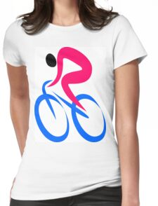 Cyclist Icon Womens Fitted T-Shirt