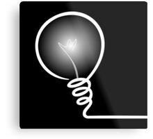 Concept of IDEA with Light bulb Metal Print