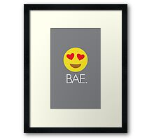Bae Heart Eyes Emoji Framed Print