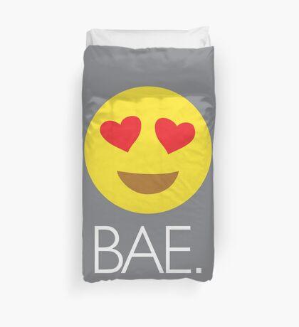 Bae Heart Eyes Emoji Duvet Cover