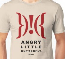 Angry Little Butterfly (TM) - Dark Text Unisex T-Shirt