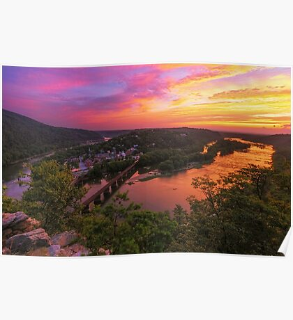 Historic View - Harpers Ferry, WV Poster