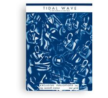 TIDAL WAVE (vintage illustration) Canvas Print