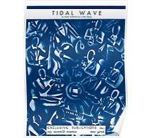 TIDAL WAVE (vintage illustration) Poster