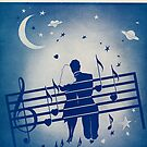 TOUCH ME SOFTLY(vintage illustration) by ART INSPIRED BY MUSIC