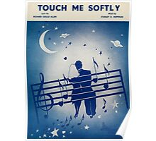 TOUCH ME SOFTLY(vintage illustration) Poster