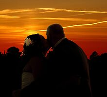 Bride an Groom romantic sunset  by thermosoflask