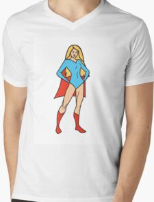 Super Girl Mens V-Neck T-Shirt
