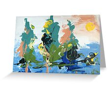 Bright landscape Greeting Card