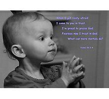 Faith and Trust Photographic Print