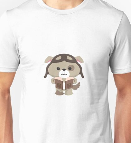 Little Pilot Pup Dog Unisex T-Shirt