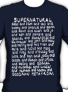 The Characters of Supernatural T-Shirt