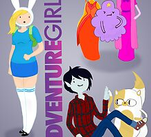 Now in Poster form, Adventure Girls!  by CathanaMiau