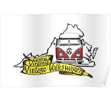 C3V Central Virginia Vintage Volkswagen Poster