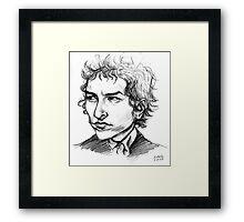 Bob Dylan Sketch Portrait Framed Print