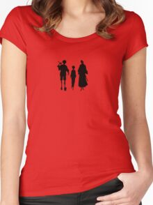 Samurai Champloo Silhouettes  Women's Fitted Scoop T-Shirt