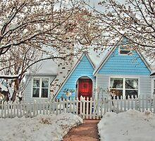 Snowy Cottage In The Spring by Diana Graves Photography