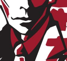 Kafka in Black & Red Sticker