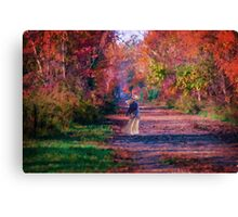 Walking the Path of Color Canvas Print