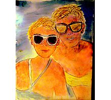 ANOTHER OREILLY ORIGINAL PAINTING REFLECTIONS OF Anna and Carol at the Beach Photographic Print