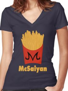 Super McSaiyan Women's Fitted V-Neck T-Shirt