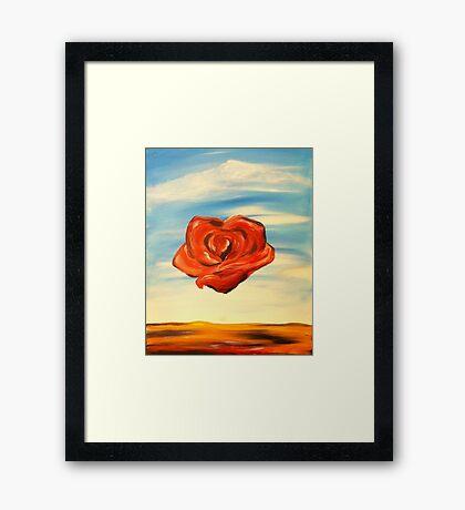 Meditation Rose Framed Print