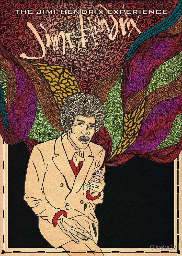 Hendrix - Poster by Oliveira37