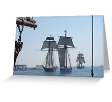 Three Ships Greeting Card