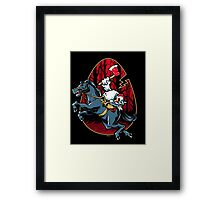 The Eggless Horseman Framed Print