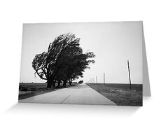 Oklahoma Route 66, 2012, B&W. Greeting Card
