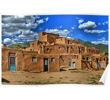 Pueblo de Taos Poster