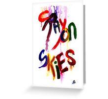 crayon skies Greeting Card