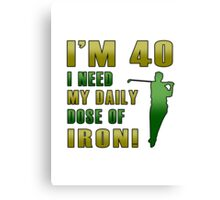 40th Birthday For Golf Lovers Canvas Print