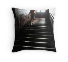 In a Stairwell Throw Pillow