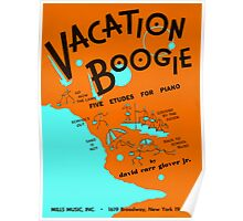 VACATION BOOGIE  (vintage illustration) Poster