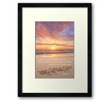 The Sunset Framed Print